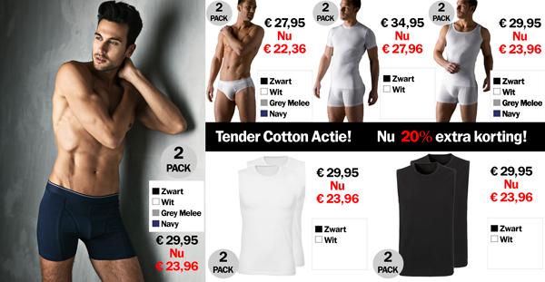 Tender cotton actie